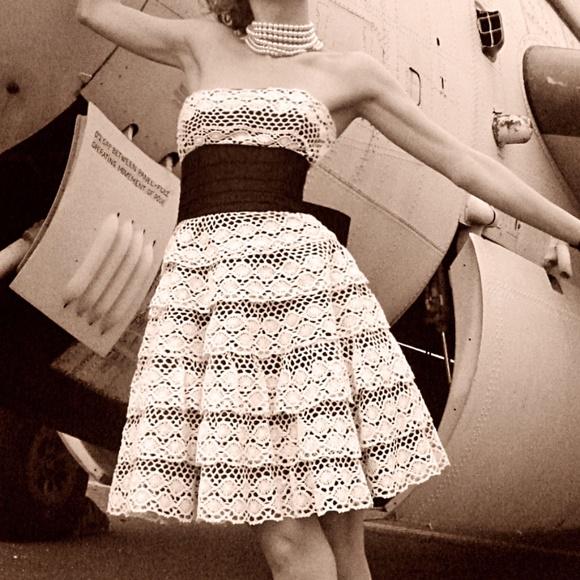 Betsey Johnson Dresses & Skirts - Vintage BETSEY JOHNSON Scalloped Crochet Dress
